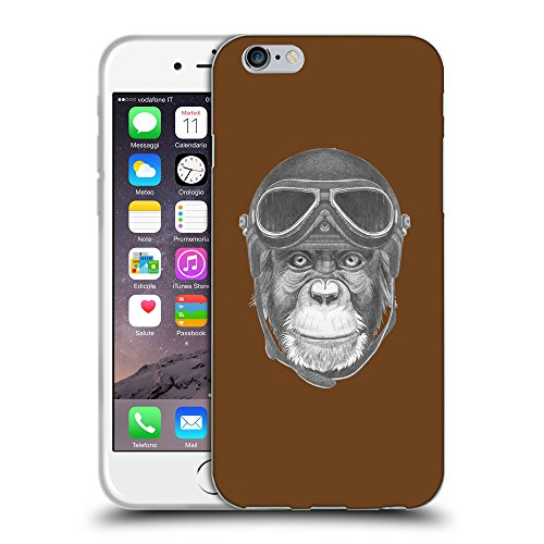 GoGoMobile Coque de Protection TPU Silicone Case pour // Q05290633 Pilote singe Sépia // Apple iPhone 7