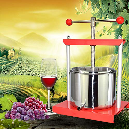 EJWOX 1.6 Gallon Stainless Steel Soft Fruit Wine Juice Press Cheese Making Press by EJWOX (Image #3)