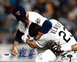 Nolan Ryan Autographed 8x10 Photo Texas Rangers Ventura Fight PSA/DNA