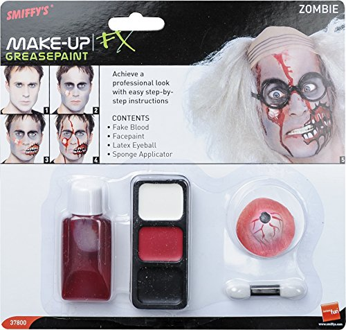 Smiffy's Zombie Make-up Set With Blood Rubber Eyeball
