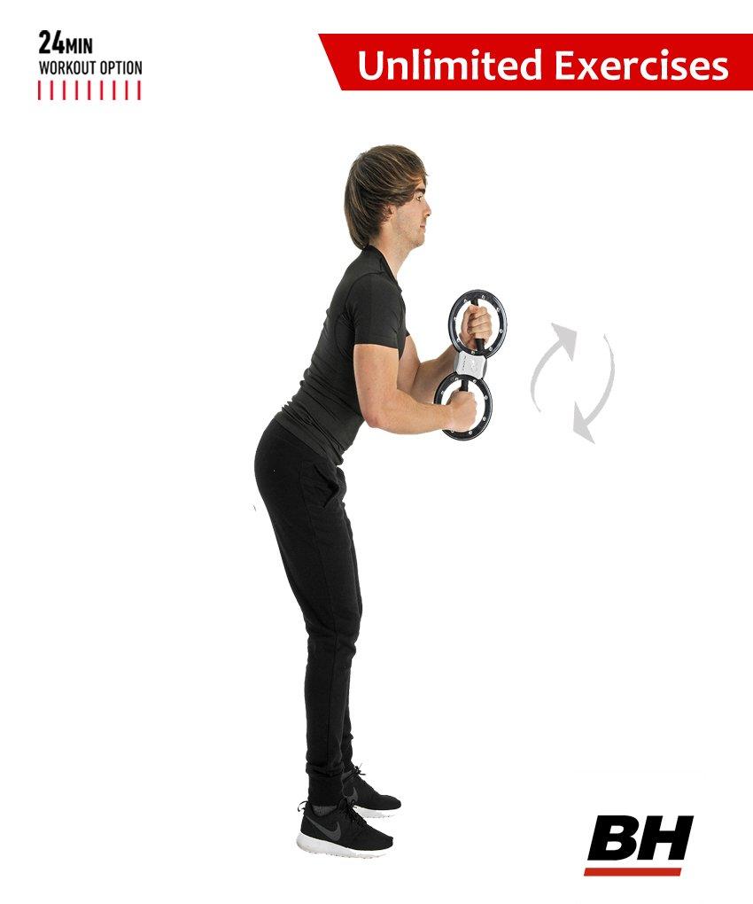 BH Fitness Unlimited 8lbs Tonificador Muscular, Unisex, Blanco, Unico: Amazon.es: Deportes y aire libre