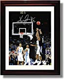 Framed 2016 Villanova Kris Jenkins ''The Shot'' NCAA Champs Print - Portrait
