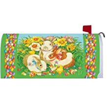 Jellybean Bunnies Easter 1914MM Magnetic Mailbox Cover Wrap