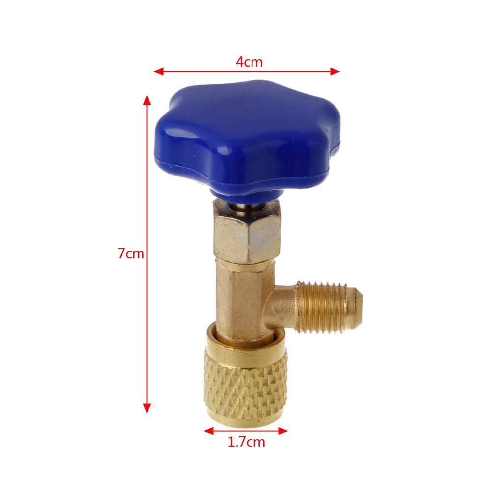 HavanaYZ 1//4 SAE Abridor de botellas de aire acondicionado para refrigerante de gas R22 R134a R410A