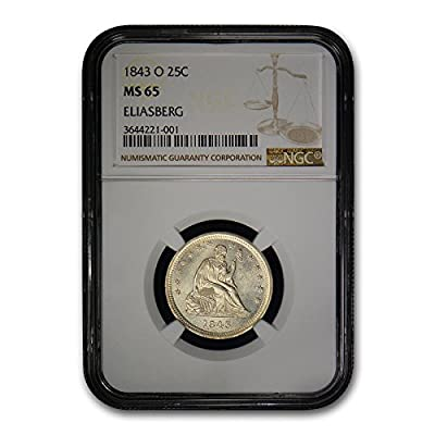 1843 O Liberty Seated Quarter MS-65 NGC Quarter MS-65 NGC