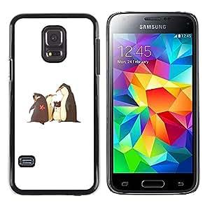 Shell-Star Arte & diseño plástico duro Fundas Cover Cubre Hard Case Cover para Samsung Galaxy S5 Mini / Samsung Galaxy S5 Mini Duos / SM-G800 !!!NOT S5 REGULAR! ( Funny Movie Penguins White Kids )