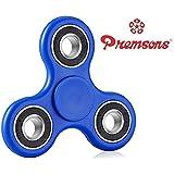 Premsons Fidget Spinner 608 Four Bearing Hand Tri-Spinner Toy - Dark Blue + Black Wing Bearings
