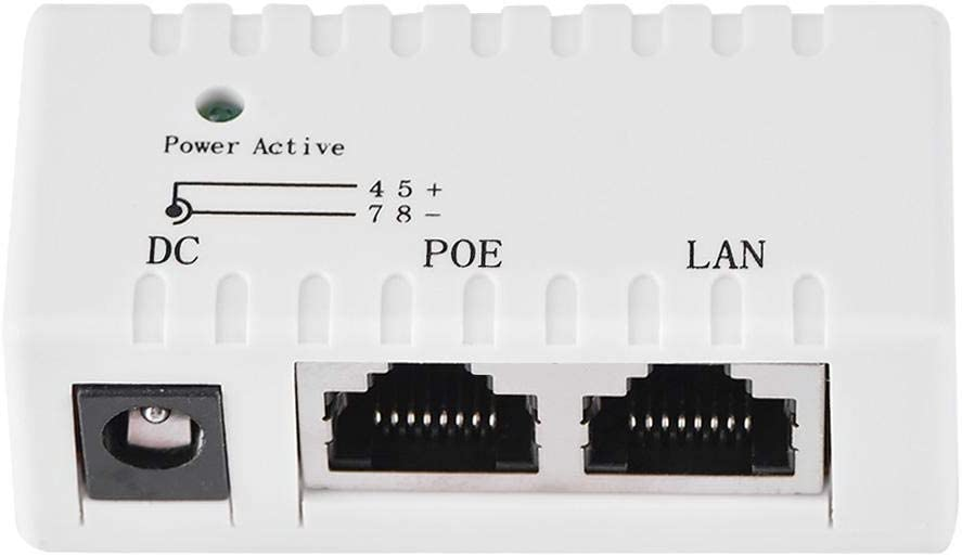 White Power Over Ethernet Injector Adapter Tihebeyan LAN Network POE Splitter