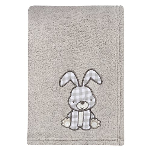 Trend Lab Gray Bunny Plush Baby Blanket, Gray, -