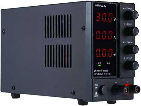 US Regulated Power Supply 30V//10A Adjustable High Precision Switching Regulated Power Supply LED Display with Power Cord