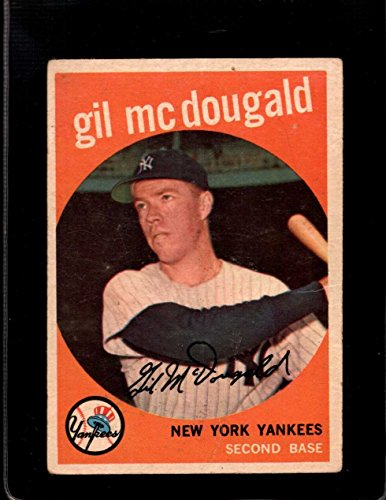 1959 TOPPS #345 GIL MCDOUGALD VG YANKEES *A24739