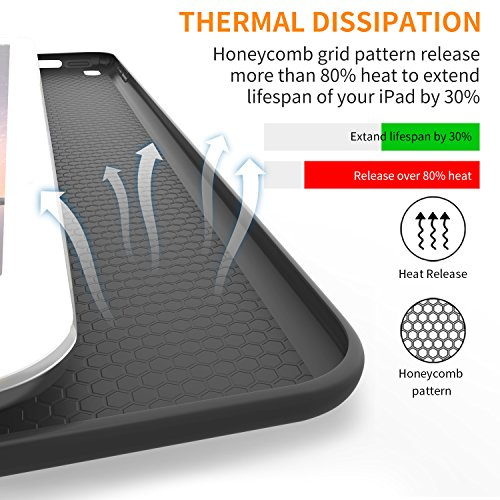 iPad Pro 10.5 Soft Back Case, DTTO Ultra Slim [Anti-Scratch] Lightweight Smart Case Trifold Cover Stand with Flexible Soft TPU Back Cover for iPad Pro 10.5 inch [Auto Sleep/Wake],Black by DTTO (Image #4)