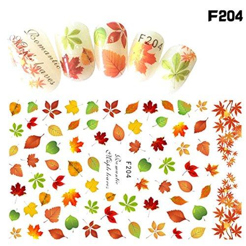 Fullfun Halloween Designs Women Nail Art Sticker (J) (Diy Halloween Nail Designs)