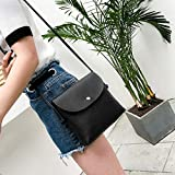 XMY Mobile phone bag female mini crossbody color bag shoulder bag wild, black