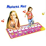 MAZU Durable and Foldable Piano Mat- Baby Touch Play Keyboard Musical Music Carpet Mat Blanket Early Education Tool,8 Piano Functional Keys and 8 Selectable Animal Sounds, For Kids 3+
