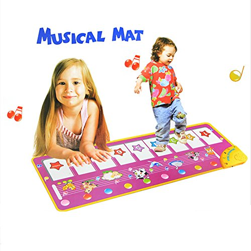 MAZU Durable and Foldable Piano Mat- Baby Touch Play Keyboard Musical Music Carpet Mat Blanket Early Education Tool,8 Piano Functional Keys and 8 Selectable Animal Sounds, For Kids 3+ by MAZU (Image #7)