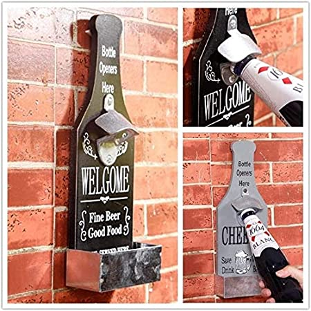 HSF Personalidad Creatividad Restaurante Beer sacacorchos Barra de Almacenamiento Decoraciones clásicas Grill abridor de Decoración de la Pared del café Tienda de Botella Abrebotellas