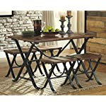 Ashley Furniture Signature Design - Freimore Dining Room Table and Stools
