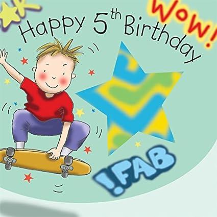 Twizler 5th Tarjeta de cumpleaños para Boy con monopatín ...