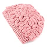 Suser Bellor Hand Knitted Personality Brain Hat Kids Adults Crochet Beanie Cool Cerebrum Cap (Pink, M)