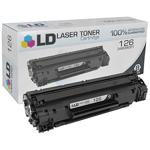 Canon Laser Oem Cartridge (LD Compatible Canon 126 3483B001 Black Toner Cartridge for use in the ImageClass LBP6200d & LBP6230dw Printers)