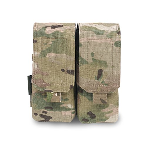 System M4 Double Mag Pouch - Warrior Assault Systems Double M4 5.56mm Non Slip Retention Mag Pouch (4 Magazine), Multicam