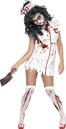 Ladies Zombie Halloween Costume Adults Horror Fancy Dress Womens Outfit