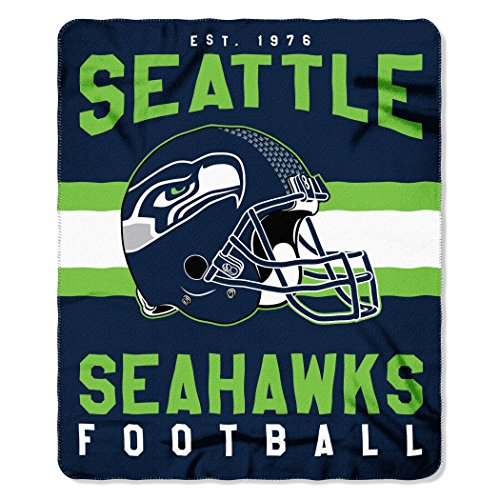 The Northwest Company NFL Seattle Seahawks Singular Fleece Throw, 50-inch by 60-inch, Green
