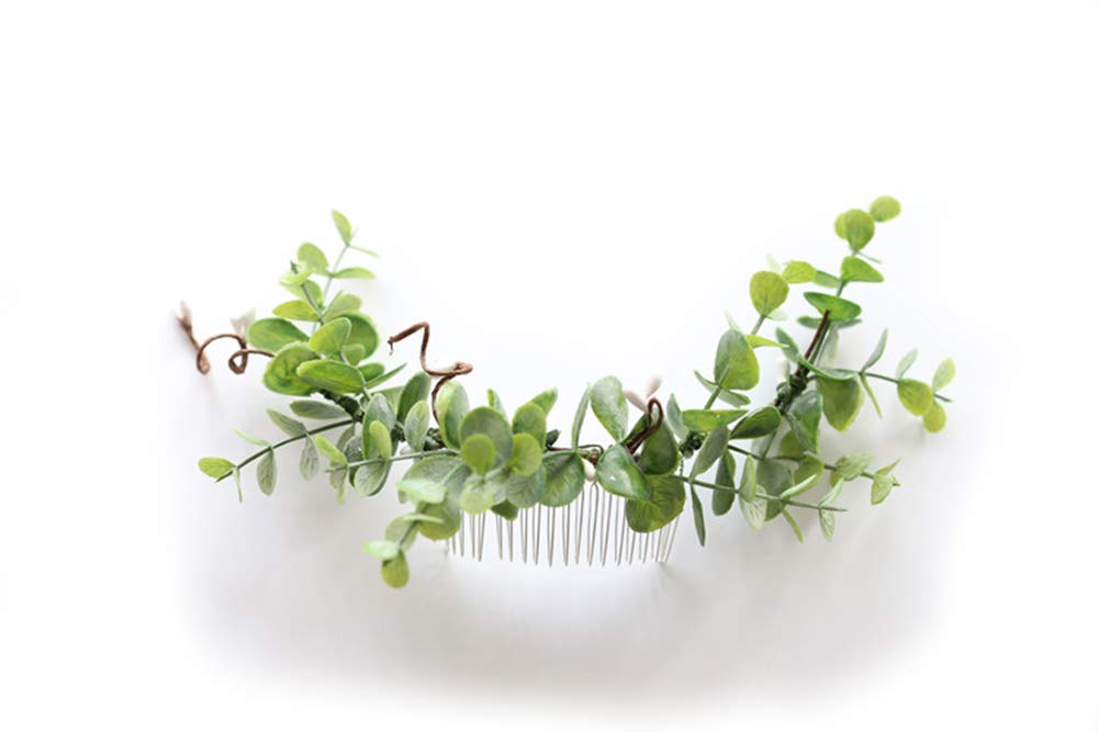 FIDDY898 Bridal Hair Comb Greenery Headpiece Greenery Comb Leafy Comb Wedding Accessories