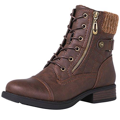 GLOBALWIN Women's 1821 Brown Fashion Boots 7.5M