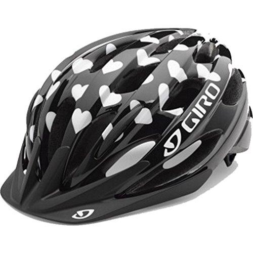 Giro Youth Raze, Black/White Hearts - One (Girl Black Helmet)