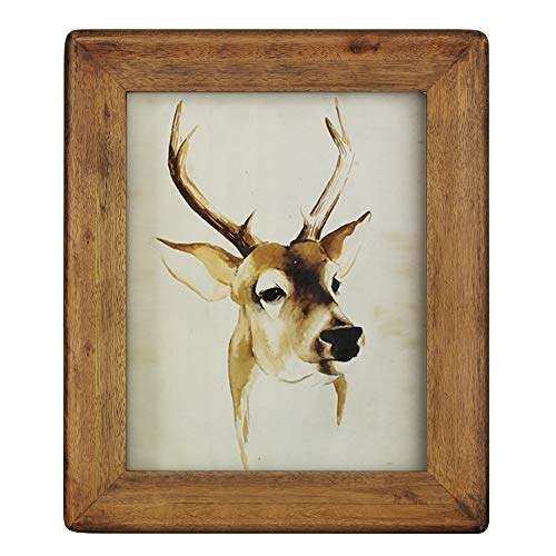 icheesday 8x10 Picture Frames,Brown Rustic Wood Frame ()
