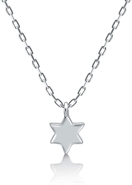 925 Sterling Silver 20mm Gold-plated Star of David Lucky Jewish Heart Locket Pendant