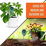 VALLERRY 3-In-1 Soil Tester Moisture Meter | Three Premium Functions: Light, Humidity & pH Acidity Detector | Ideal for Indoor or Outdoor Garden, Farm, Grass & Lawn | Easy To Read Display (NO Battery)