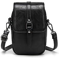 Women Vintage Crossbody Phone Bag, Small Messenger Shoulder Bag Cash Handbag Wallet Purse
