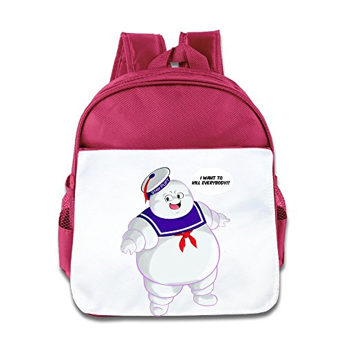 XJBD Custom Superb Stay Puft Ghostbusters By Christianimas Kids School Bagpack For 1-6 Years Old Pink - Fantastic Four Homemade Costumes