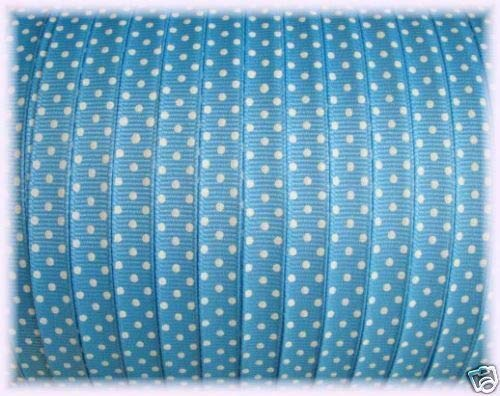 Ribbon Art Craft Perfect Solution for Any Project Decoration 1 Yard 3/8 Easter Copen Blue Swiss DOT Grosgrain Ribbon 5YD