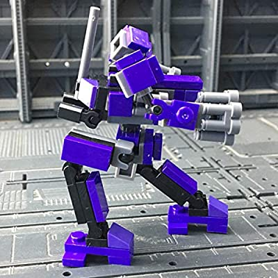 ECLENYES 110Pcs STEM MOC TP Factory Guard Mini Mecha Strafe Model Small Particle Building Blocks Educational Toy Set(The Product is not Made and Sold by Lego and has no Connection with Lego) - Purple: Home & Kitchen