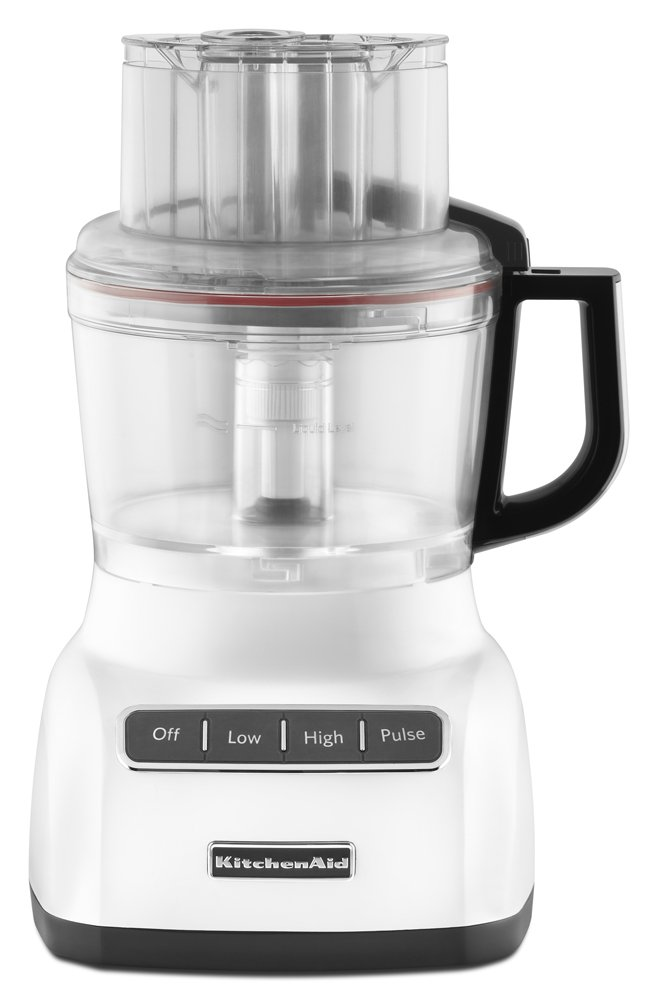 KitchenAid KFP0922WH 9-Cup Food Processor with Exact Slice System - White