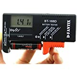D-FantiX Digital Battery Tester Battery Checker for AA AAA C D 9V 1.5V Button Cell Small Batteries (Model: BT-168D)