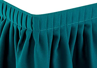 LA Linen 21-Ft by 29-Inch Polyester Poplin Pleated Table Skirt with 10 Large Clips