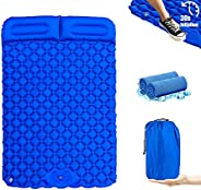 AIKEAIKESI Camping Pad with Pillow Air Sleeping Mat Portable Comfortable Outdoor Foldable Backpack Ultralight