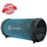 Woozik S213 LED Portable Bluetooth Outdoor Indoor Hi-Fi Wireless Speaker Boombox with Dancing LED Lights, FM Radio, SD Card,AUX, Power Bank MP3 (Black)