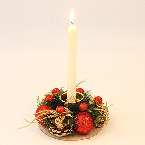 Nesee Christmas Candle Holder,Vintage Candle Holder Romantic Candlestick Home Party Christmas Home Decor (B) from Nesee