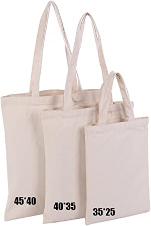 3 bolsas de lona de algodón pesado para manualidades, bolsa de la ...
