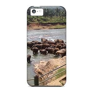 Special CaroleSignorile Skin Cases Covers For Iphone 5c, Popular Elephant River Phone Cases