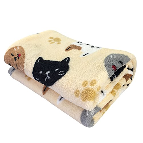 Celine lin Super Soft&Warm Fluffy Premium Flannel Fleece Pet Throw Blanket,Cute Prints Suits for Puppy and Cat