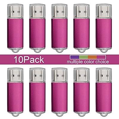 JUANW 10PCS 2GB 4GB 8GB 16GB USB Flash Drive Memory Stick Pen Drive Rectangle Model by JUANW