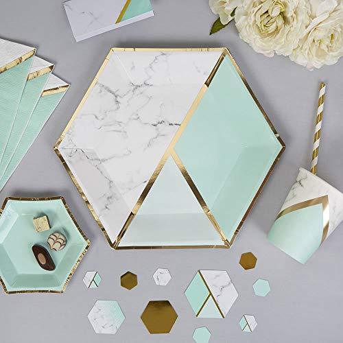 Neviti 772560 Colour Block Marble Plate, Mint, Large