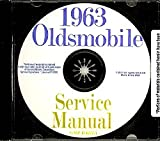 1963 Oldsmobile Repair Shop and Service Manual CD F85 Cutlass 88 98 Jetfire Starfire